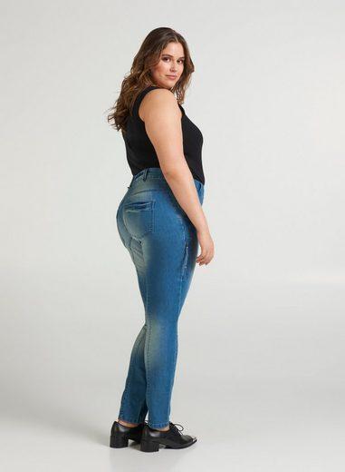 Zizzi Slim-fit-Jeans Große Größen Damen Extra Slim Fit Jeans mit Stretch und mittelhohem Bund