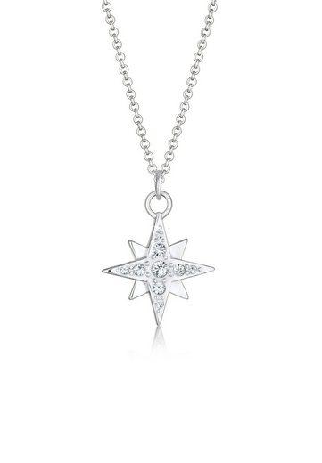 Nenalina Kette mit Anhänger »Stern Astro Kristalle 925 Silber«, Astro