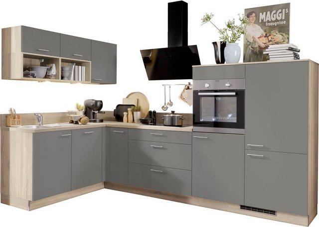 Einbauküchen - Express Küchen Winkelküche »Scafa«, mit E Geräten, vormontiert und mit Soft Close Funktion, Stellbreite 305 x 185 cm  - Onlineshop OTTO