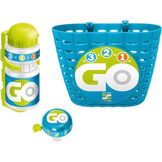 STAMP Trinkflasche »Körbchen + Trinkflasche + Klingel - Skids Control,«