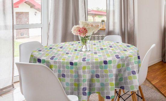 Abakuhaus Tischdecke »Kreis Tischdecke Abdeckung für Esszimmer Küche Dekoration«, Blatt Abstrakte Pastellherbstblätter