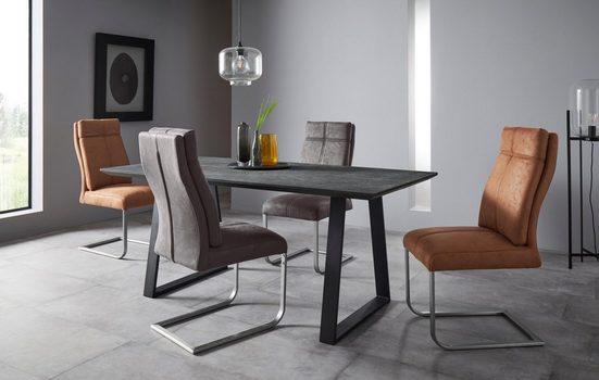 Places of Style Esszimmerstuhl »Luanda« 2er-Set, in zwei verschiedenen Bezugsvarianten, Sitzhöhe 49 cm