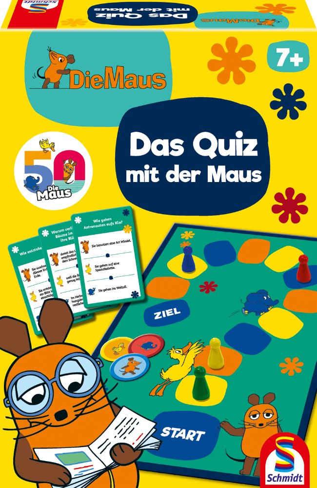 Schmidt Spiele Spiel, Kinderspiel »Das Quiz mit der Maus Spiel«, Made in Germany