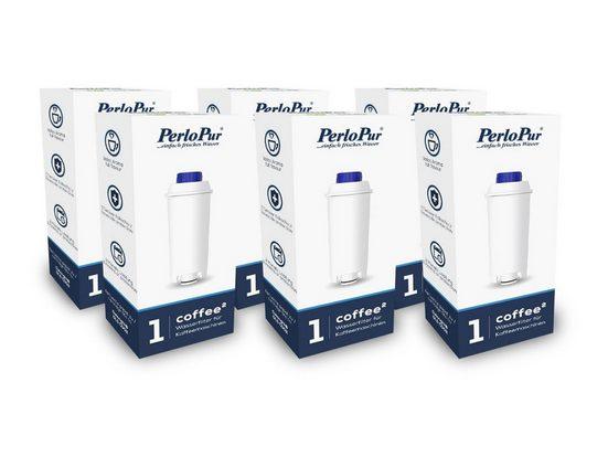 PearlCo Kalk- und Wasserfilter Coffee² Pack 6 komp. mit Delonghi DLSC002, Zubehör für Kaffeemaschinen der ECAM, ETAM sowie ESAM Serie