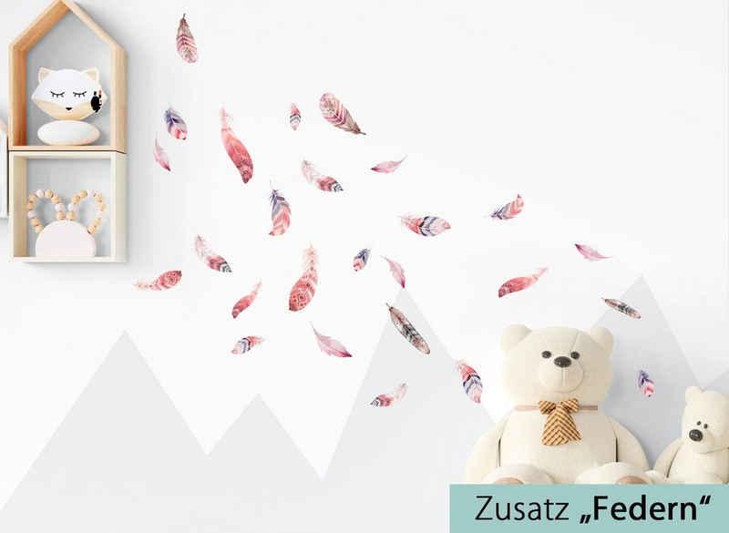 little DECO Wandtattoo »Little Deco Wandtattoo Waldtiere mit Sternen & Federn«