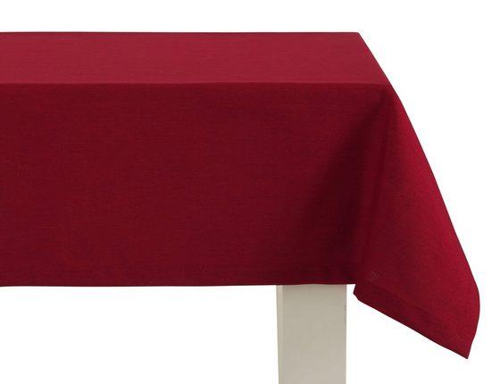 Dreams Tischdecke »UNI«, mit ca. 2,5 cm breitem Saum und edler Briefkecke