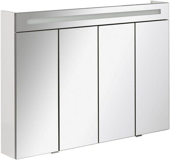 FACKELMANN Spiegelschrank »Twindy« Breite 110 cm, 4 Türen, LED-Badspiegelschrank