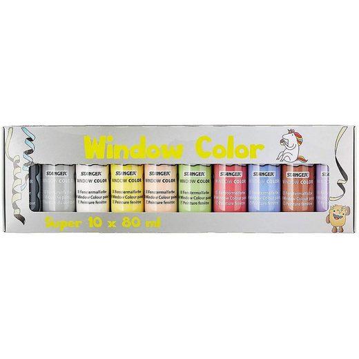 Fenstersticker »Window Color Superset, 10 Farben inkl. Vorlage«, Stanger