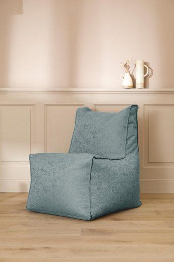mokebo Sitzsack »Der Ruhepol«, Indoor Sessel, Bean Bag & Gaming-Stuhl Innovation, verschiedene Farben & optional mit Hocker