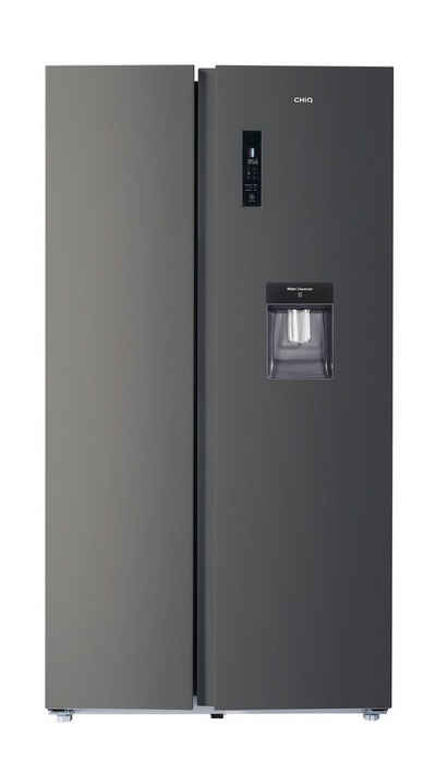 ChiQ Side-by-Side FSS559NEI42D, inverter and No Frost technology 559L, Side-by-side refrigerator-freezer combination with water tank, Water dispenser, 39 db,177 x 91.2 x 70.4 cm (HxWxD), LED display, 12-year compressor warranty*