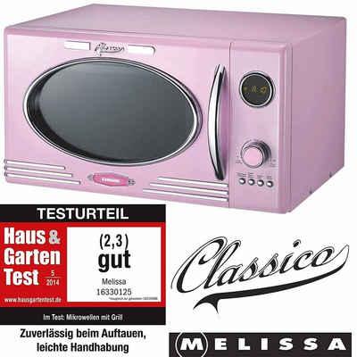 MELISSA Mikrowelle 16330125 rosa im Retro Design mit Grill