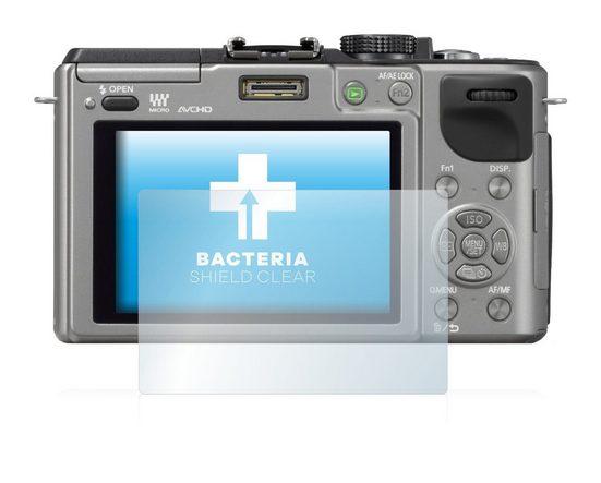 upscreen Schutzfolie »für Panasonic Lumix DMC-GX1«, Folie Schutzfolie klar antibakteriell