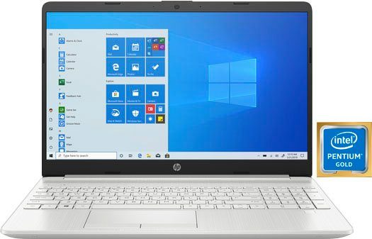 HP 15-dw1224ng Notebook (39,6 cm/15,6 Zoll, Intel Pentium Gold, UHD Graphics, 512 GB SSD)