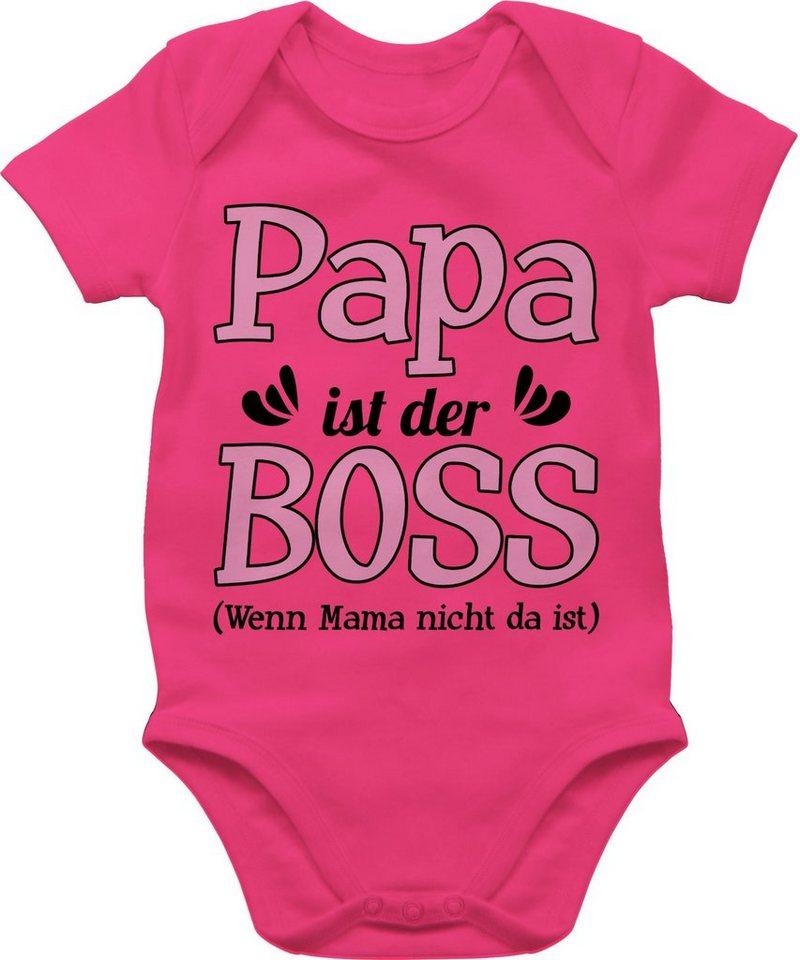 Shirtracer Shirtbody »Papa ist der Boss wenn Mama nicht da