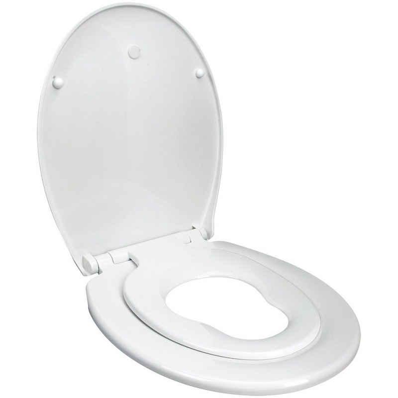 Euroshowers GmbH Kinder-WC-Sitz »mit integriertem Kindersitz, Absenkautomatik Funktion«, Absenkautomatik Funktion