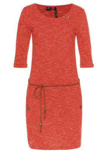 Ragwear Jerseykleid »TANYA SLUB« (2-tlg., mit abnehmbarem Gürtel) PETA approved Vegan
