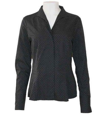 Van Laack Blusentop »van Laack Alice Business-Bluse gepunktete Damen Ausgeh-Bluse mit versteckter Knopfleiste Freizeit-Bluse Schwarz«