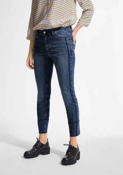comma casual identity 5-Pocket-Jeans »Slim Fit: Jeans mit Waschung« Waschung, Ziernaht