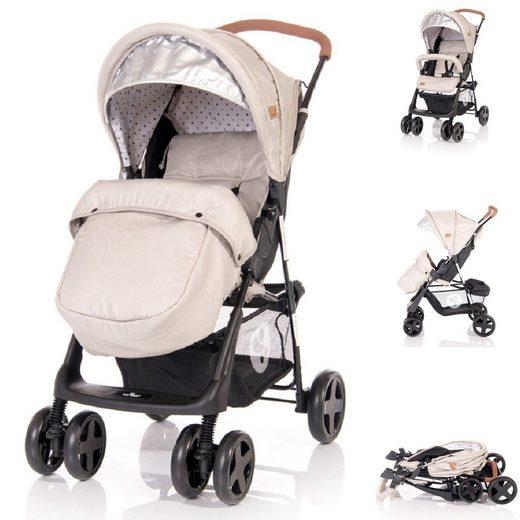 Lorelli Kinder-Buggy »Kinderwagen Buggy Terra«, Fußabdeckung schwenkbare Vorderräder Korb