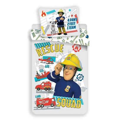 Babybettwäsche »Rescue Squad Bettwäsche«, Feuerwehrmann Sam, 100x135 40x60 cm, 100% Baumwolle