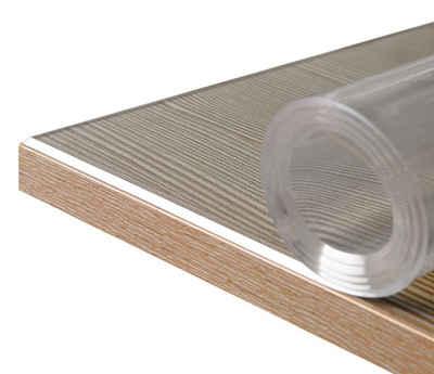 Beautex Tischdecke »Glasklar Folie 2 mm + abgeschrägte Kante, transparente Tischdecke Tischschutz, Made in Germany, Größe wählbar« (1-tlg)