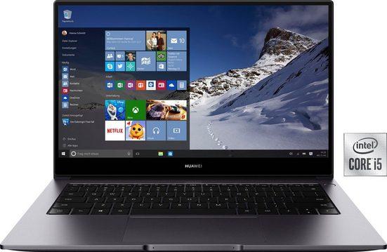 Huawei MateBook D 14 Intel Core i5 Notebook (35,56 cm/14 Zoll, Intel Core i5, GeForce MX 250, 512 GB SSD, Kostenloses Upgrade auf Windows 11, sobald verfügbar)