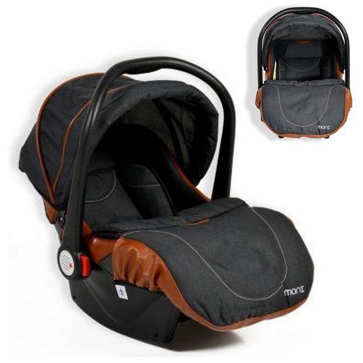 Moni Babyschale »Kindersitz, Babyschale Alma Gruppe 0+«, 3.15 kg, (0 - 13 kg) Adapter, Fußabdeckung Dach