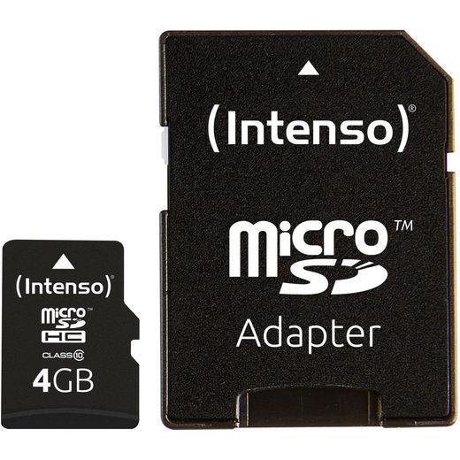 Intenso »microSDHC 4 GB, Class 10« Speicherkarte
