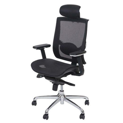MCW Schreibtischstuhl »MCW-A55«, Luftzirkulation am Rücken, Höhenverstellbare Sitzfläche und Kopfstütze