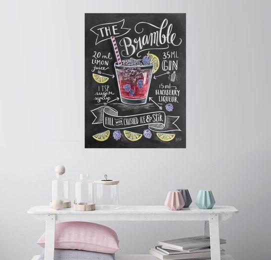 Posterlounge Wandbild, Bramble Rezept (Englisch)