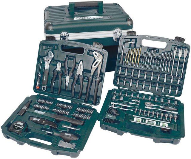Brueder Mannesmann Werkzeuge Werkzeugbox »163-tlg.« | Baumarkt > Werkzeug > Werkzeug-Sets | Grün | Kunststoff | Brüder Mannesmann Werkzeuge