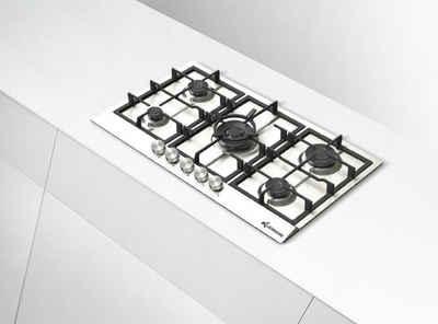 Klugmann Gas-Kochfeld Design KT905XX 90cm Einbau Edelstahl Gaskochfeld 5 Brenner, WOK-Brenner 4,0 kW! automatische Gasabschaltung, Drehknöpfe aus Metall, Made In Italy.