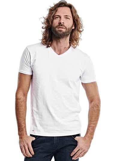 emilio adani T-Shirt »V-Neck Bio Baumwolle«
