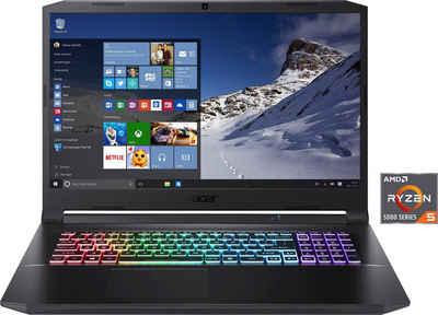 Acer Nitro 5 AN517-41-R77U Notebook (43,94 cm/17,3 Zoll, AMD Ryzen 5 5600H, GeForce RTX 3060, 512 GB SSD, Kostenloses Upgrade auf Windows 11, sobald verfügbar)