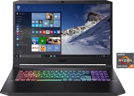 Acer Nitro 5 AN517-41-R77U Notebook (43,94 cm/17,3 Zoll, AMD Ryzen 5, GeForce RTX 3060, 512 GB SSD, Kostenloses Upgrade auf Windows 11, sobald verfügbar)