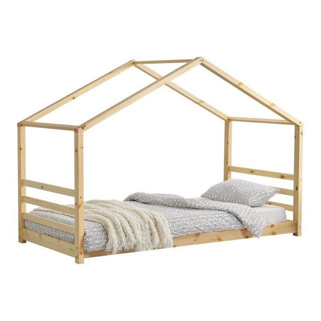 Kinderbetten - en.casa Kinderbett, Kinderbett mit Lattenrost Hausbett Holz 90x200 cm Bettenhaus Bett Jugendbett »  - Onlineshop OTTO