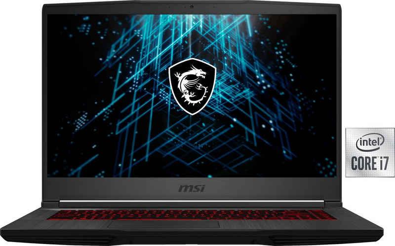 MSI GF65 Thin 10UE-095 Gaming-Notebook (39,6 cm/15,6 Zoll, Intel Core i7 10750H, GeForce RTX™ 3060, 512 GB SSD, Kostenloses Upgrade auf Windows 11, sobald verfügbar)