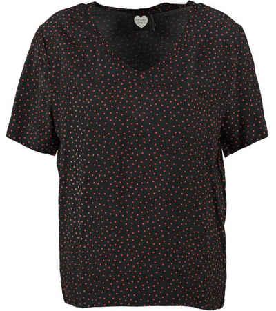 Catwalk Junkie T-Shirt »CATWALK JUNKIE Rundhals-Shirt niedliches Damen Herzchen T-Shirt Freizeit-Shirt Schwarz/Rot«