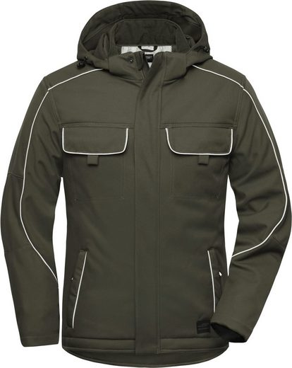 James & Nicholson Softshelljacke »Workwear Softshell Padded Jacke -Solid- FaS50886 auch in großen Größen«