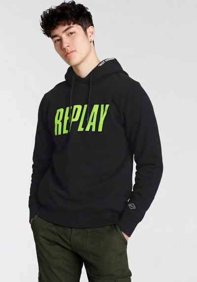 Replay Kapuzensweatshirt mit großen Frontprint