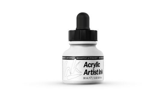 Vallejo Bastelnaturmaterial »Acrylic Artist Inks Vallejo 60001 White 30ml Airbrush Tinte«, (1-tlg)
