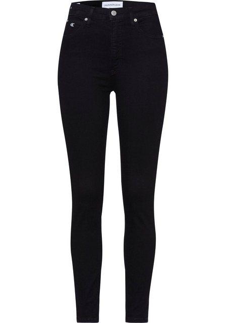 Hosen - Calvin Klein Jeans Skinny fit Jeans »HIGH RISE SUPER SKINNY ANKLE« mit Calvin Klein Jeans Logo Schriftzug am Saum › schwarz  - Onlineshop OTTO