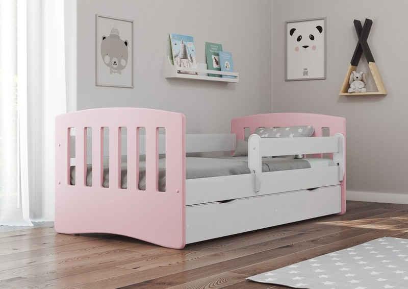 Bjird Kinderbett »Classic 80x140cm 80x160cm 80x180cm«, mit Rausfallschutz Schublade und Lattenrost
