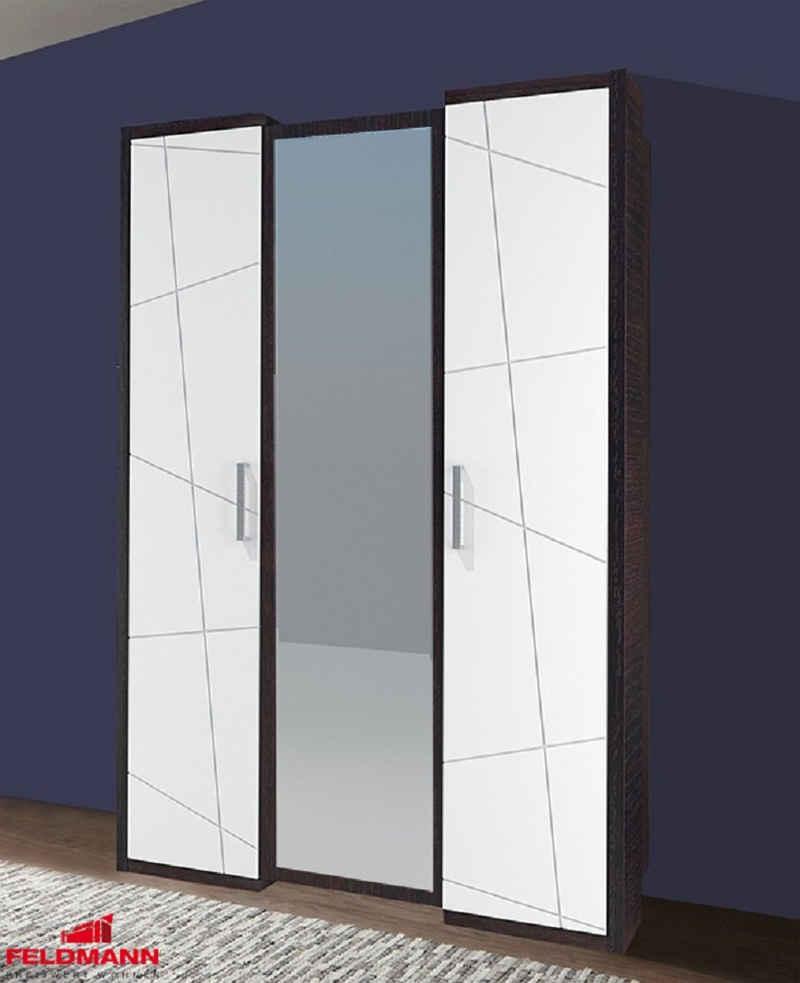 Feldmann-Wohnen Kleiderschrank »BARCELONA« B/T/H: 139 cm x 60 cm x 220 cm