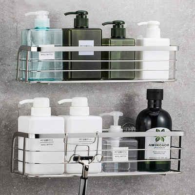 Avoalre Duschkorb »Avoalre Dusch Ablage ohne Bohren, Duschkorb aus Edelstahl, Duschablage zum hängen 2 Pack«