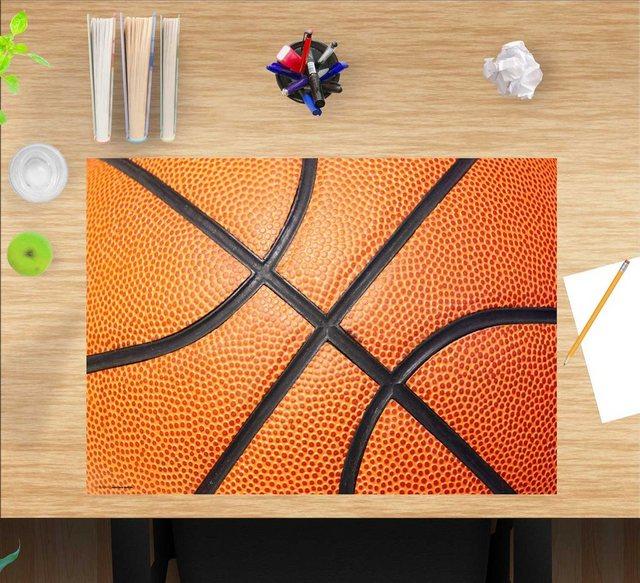 Kindertische - cover your desk.de Schreibtischaufsatz »Schreibtischunterlage für Kinder – Basketball – 60 x 40 cm – aus hochwertigem Vinyl«, (1 St)  - Onlineshop OTTO