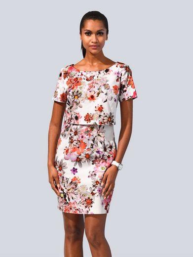 Alba Moda Kleid allover im floralem Print