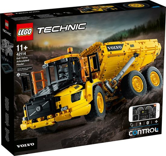 LEGO® Konstruktionsspielsteine »Knickgelenkter Volvo-Dumper 6x6 (42114), LEGO® Technic«, (2193 St)
