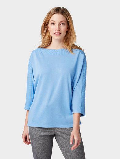 TOM TAILOR 3/4-Arm-Shirt »Shirt in Strick-Optik«