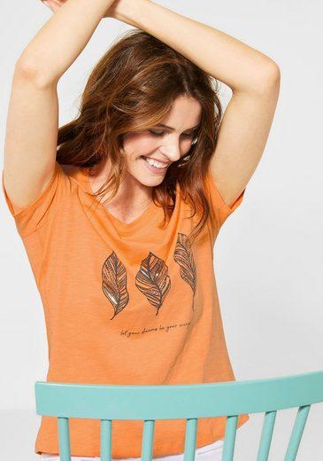 Cecil Print-Shirt mit Blätterdruck